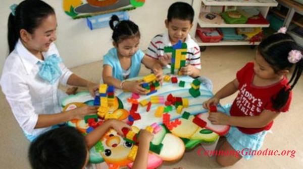 """Giáo dục dinh dưỡng cho trẻ mầm non bằng trò chơi """"Tháp dinh dưỡng"""""""