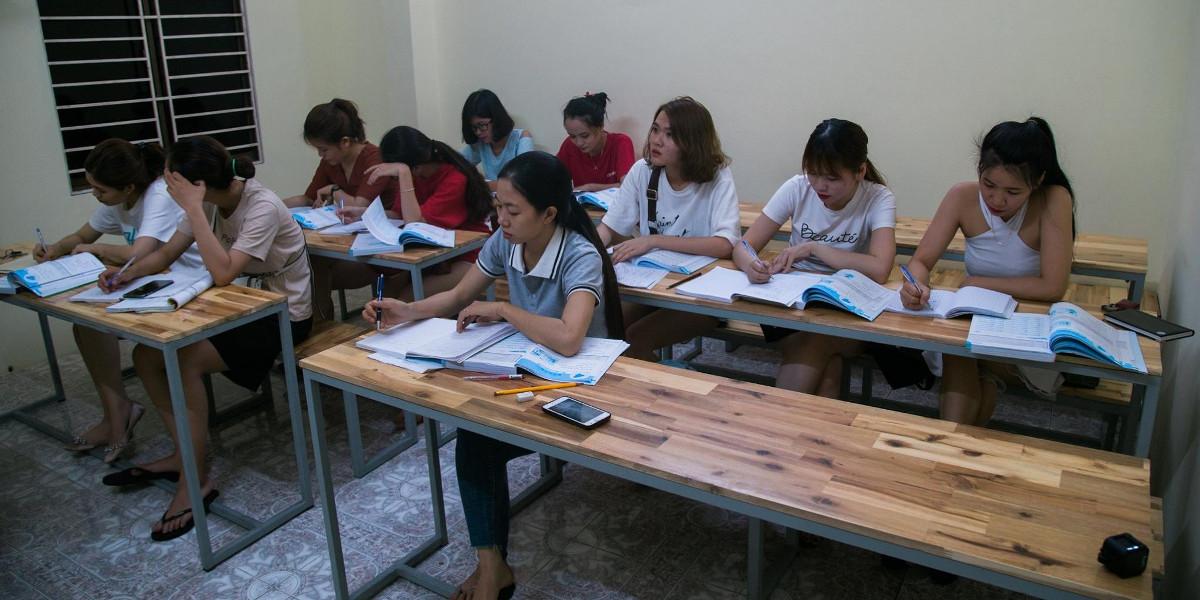 Lớp học tiếng Trung tại trung tâm Hán Ngữ Triều Châu.
