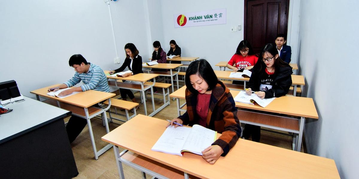 Lớp học Tiếng Trung tại Trung tâm tiếng Trung Khánh Vân
