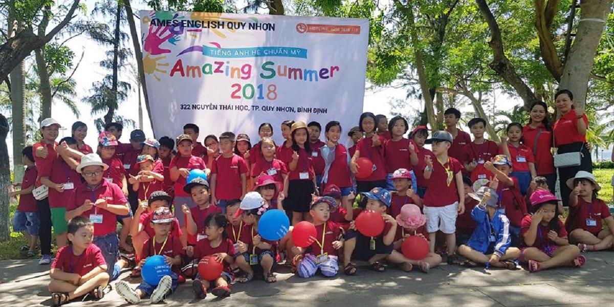 Chương trình học hè của trung tâm Ames Quy Nhơn năm 2018.