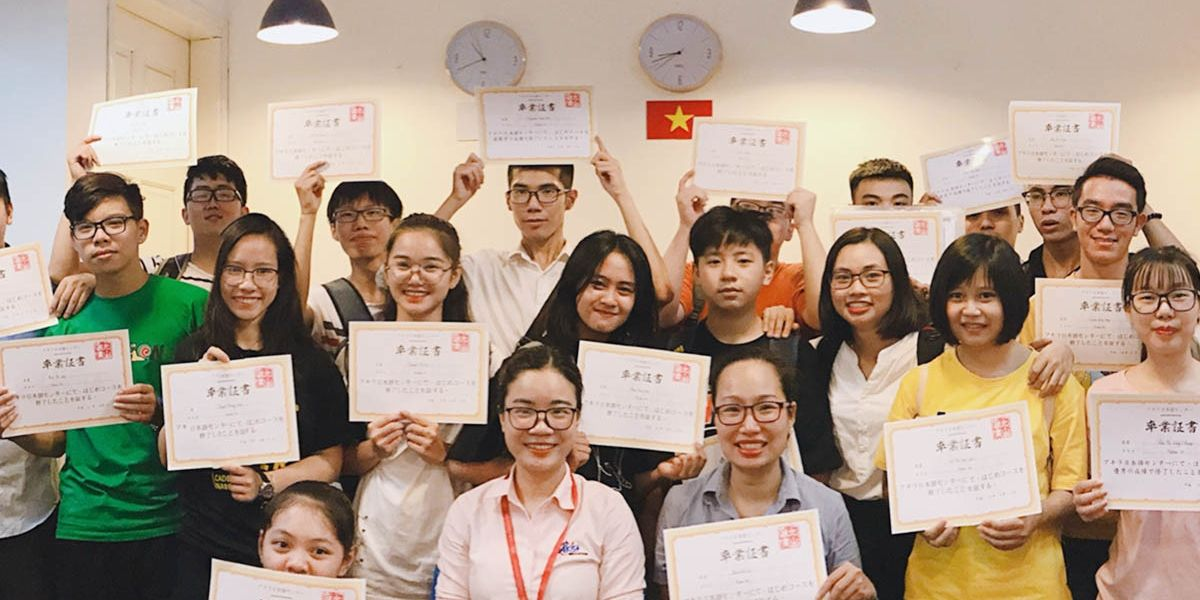 Trung tâm tiếng Nhật EKIOH: học viên tốt nghiệp