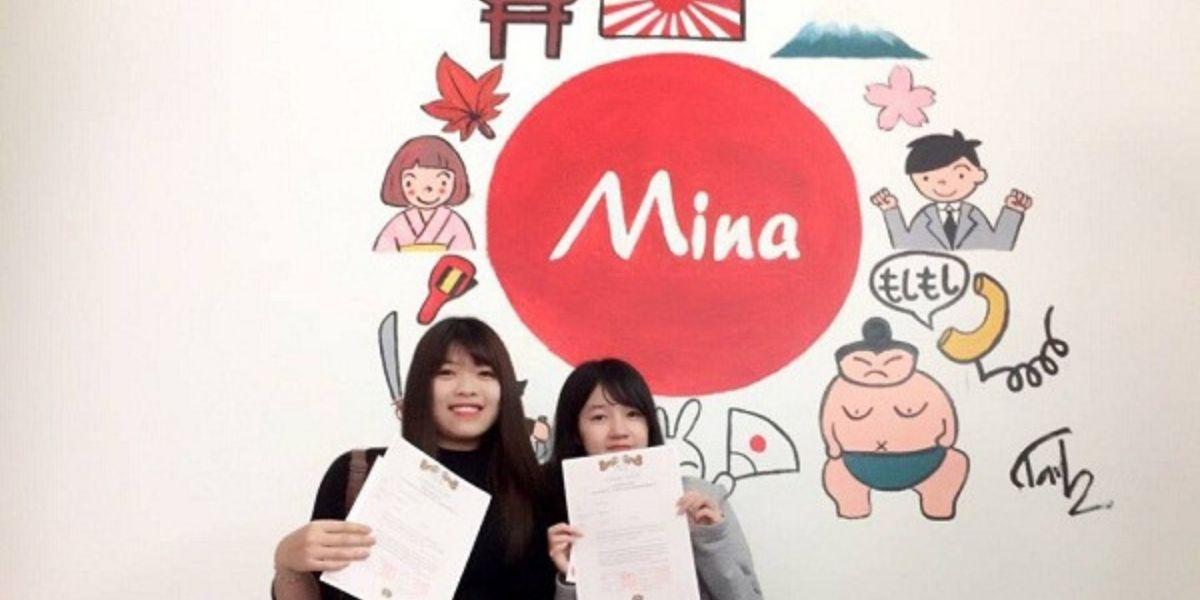 Học viên tốt nghiệp tại trung tâm tiếng nhật Mina