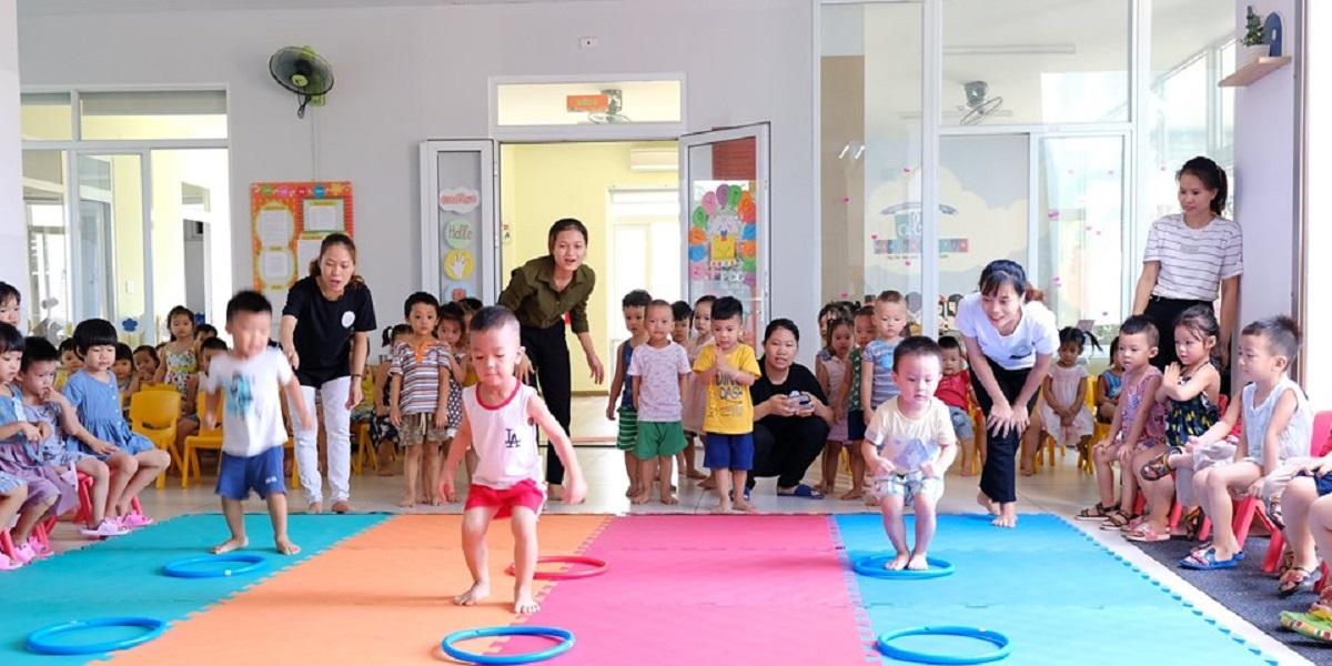 Giờ học tại trường mầm non quốc tế ABC Đà Nẵng.