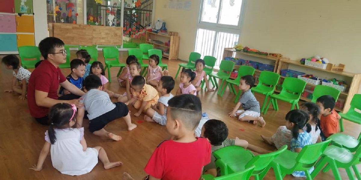 Buổi học của học sinh tại trường mầm non quốc tế Global.