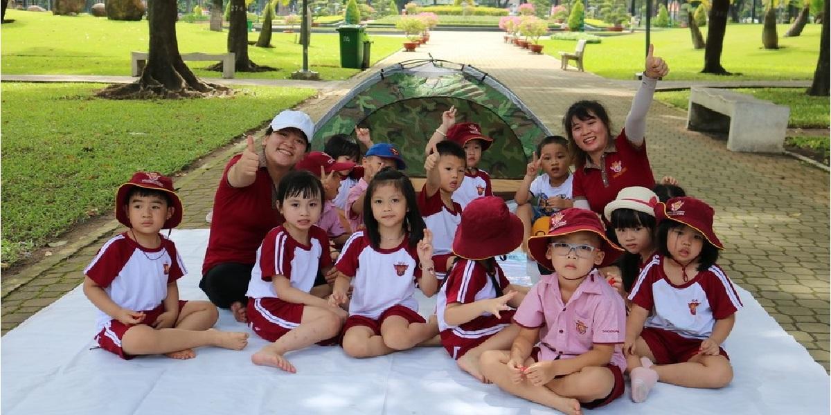 Buổi dã ngoại của học sinh trường quốc tế Sài Gòn Academy.