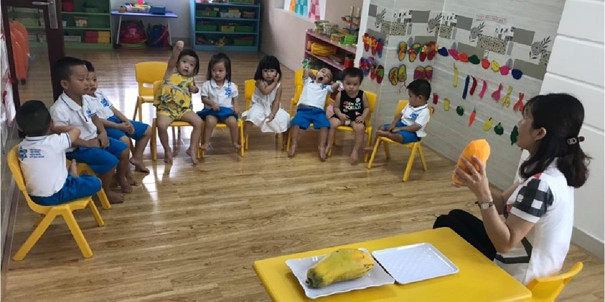 Giờ học của học sinh trường mầm non quốc tế Mỹ Sài Gòn.