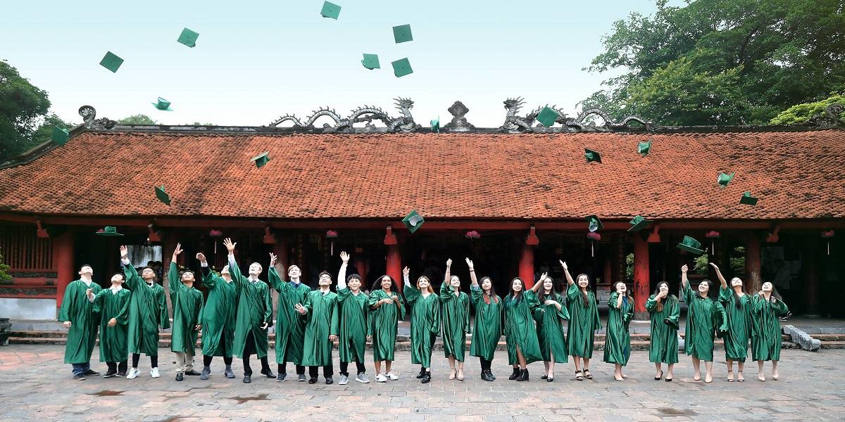 Lễ tốt nghiệp tại trường quốc tế Concordia.