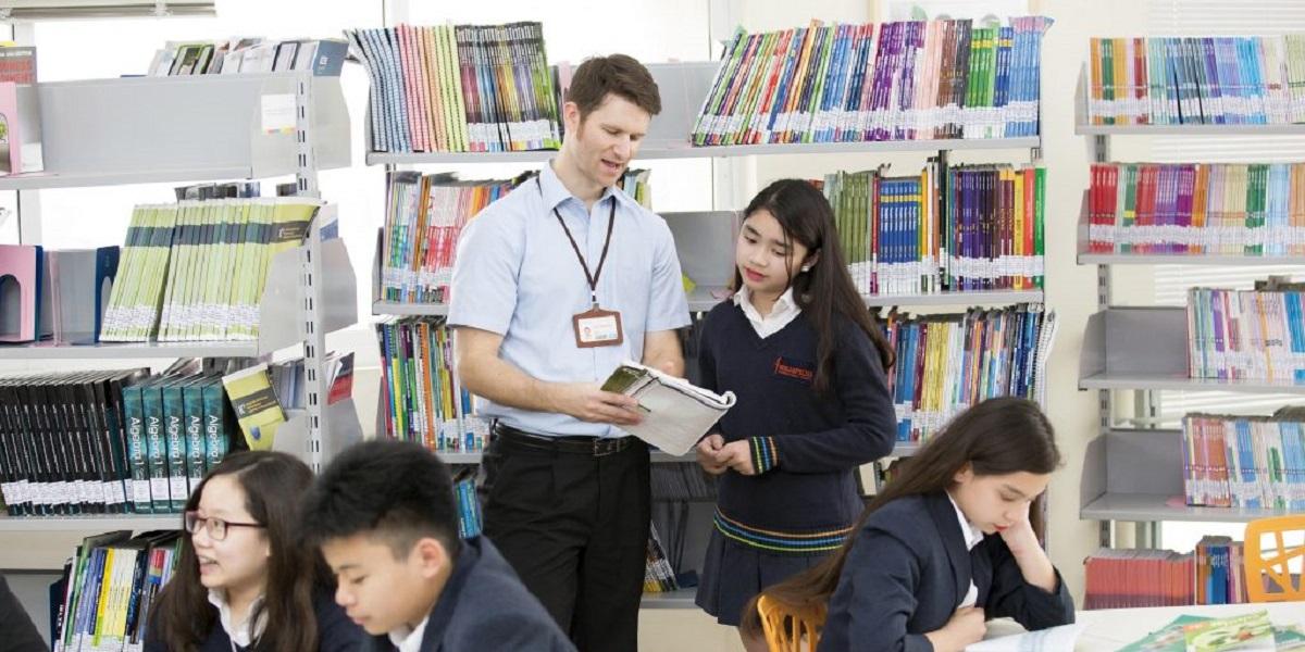 Học viên tại trường quốc tế Wellspring Hà Nội.