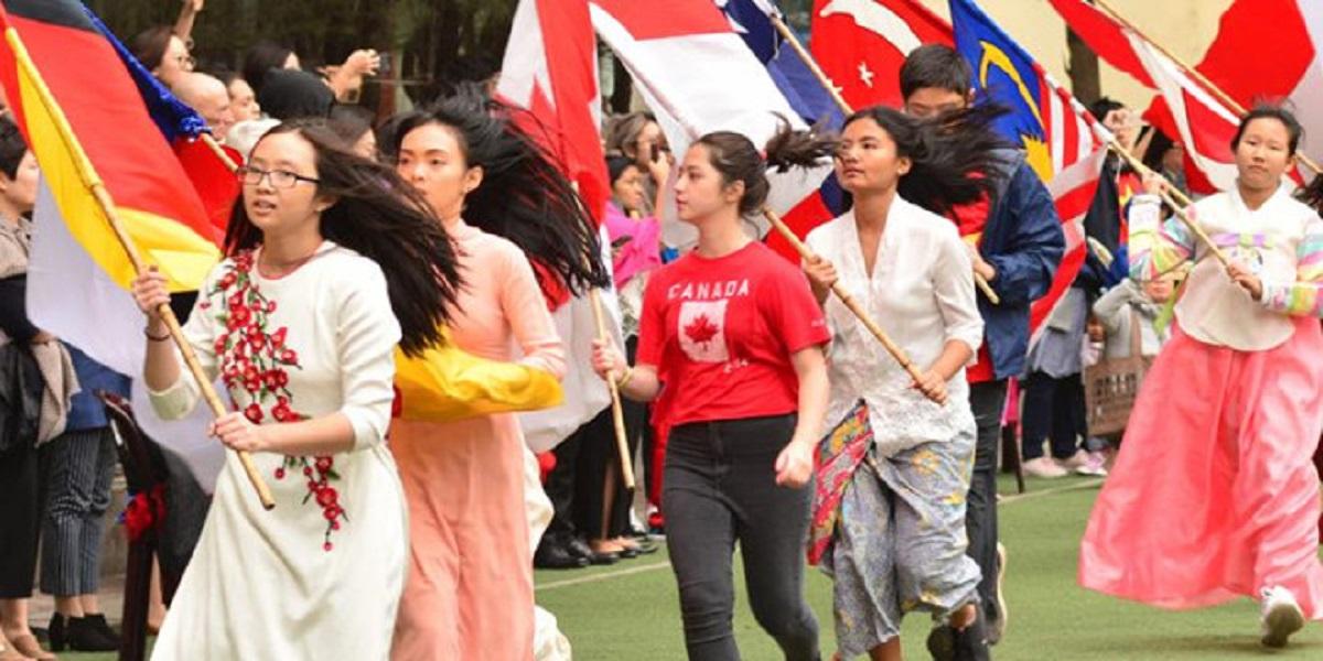 Học sinh tại trường quốc tế Hà Nội His.