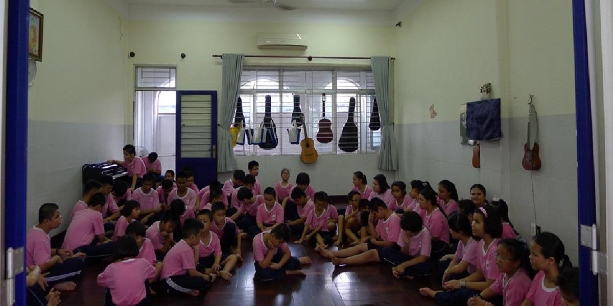 Học sinh tại trường quốc tế nam Sài Gòn.