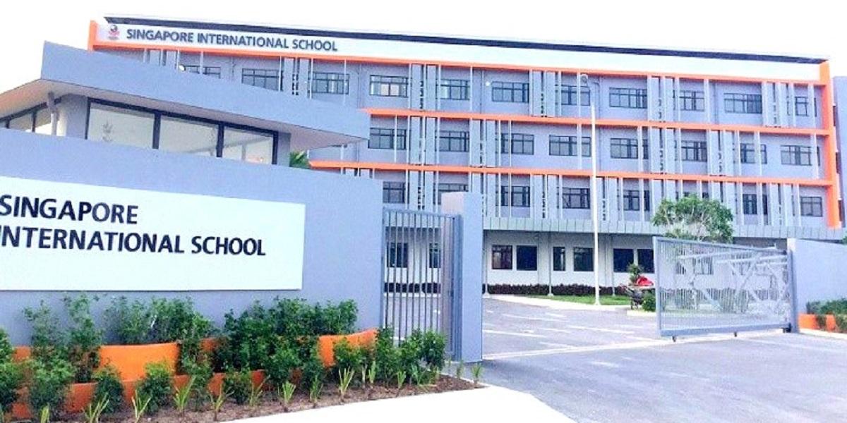 khuôn viên trường quốc tế quốc tế Singapore.