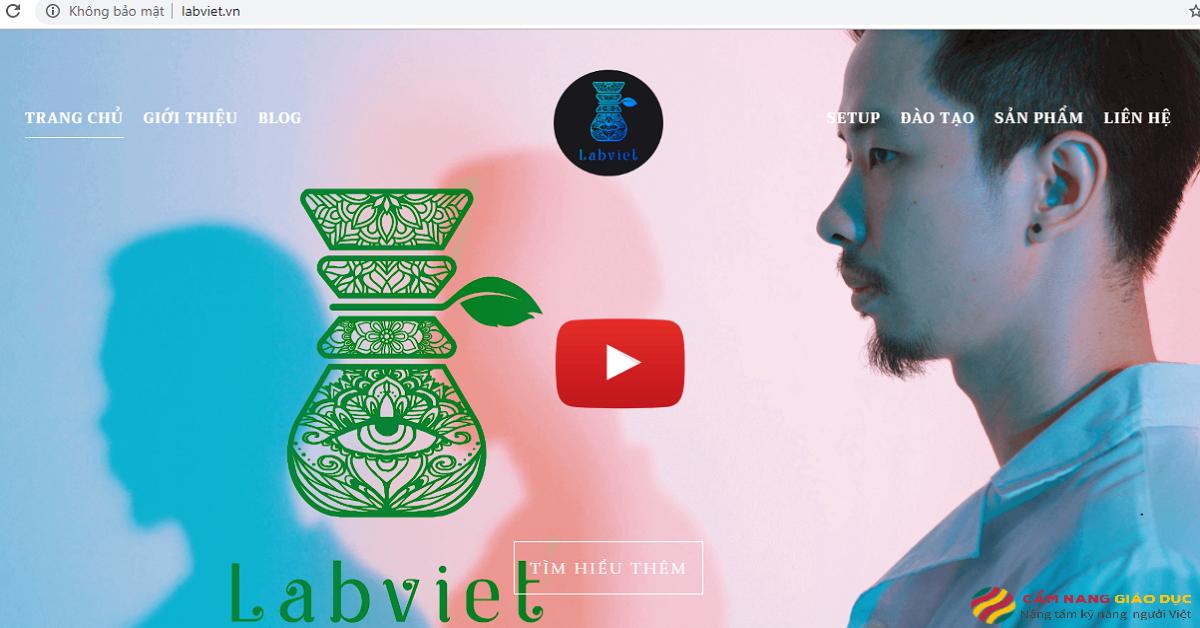 Website của trung tâm dạy pha chế Labviet.