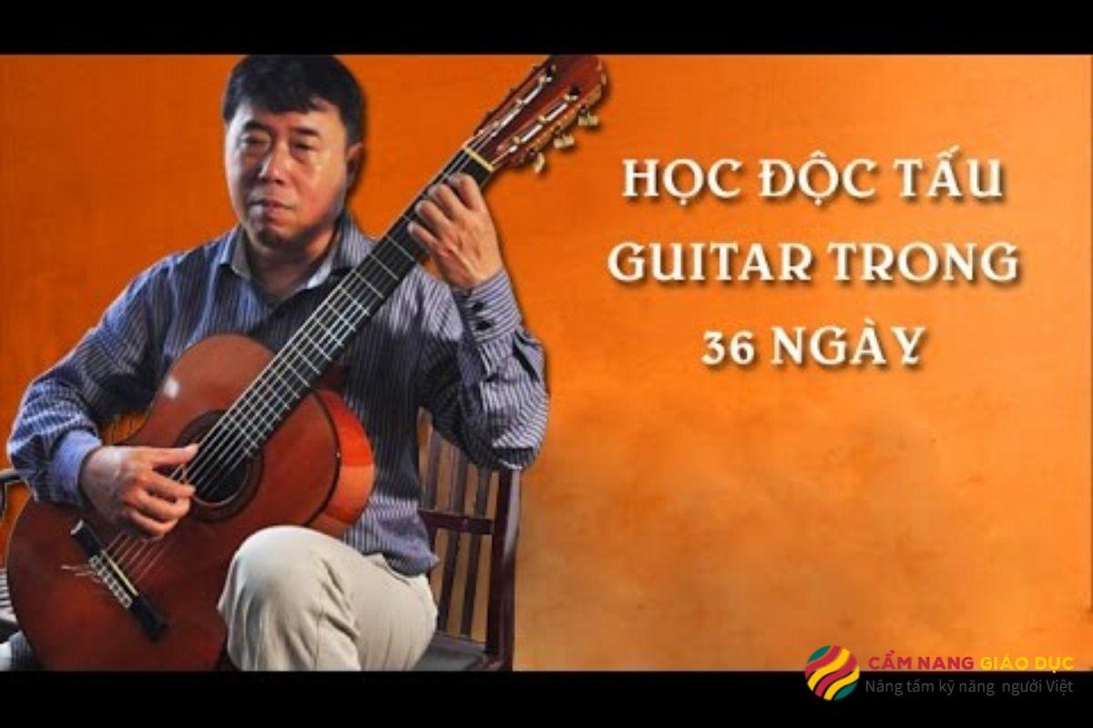 Khóa học guitar online độc tấu - Dành cho những người mới bắt đầu học trong 36 ngày.