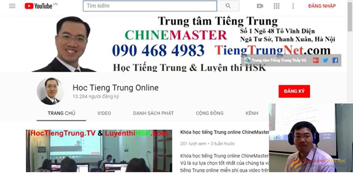 Khóa học tiếng Hoa online miễn phí tại Tiengtrungnet.com