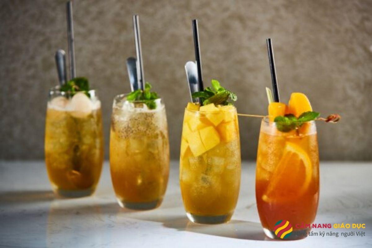 Khóa học pha chế online: Trà trái cây và trà sữa hiện đại.