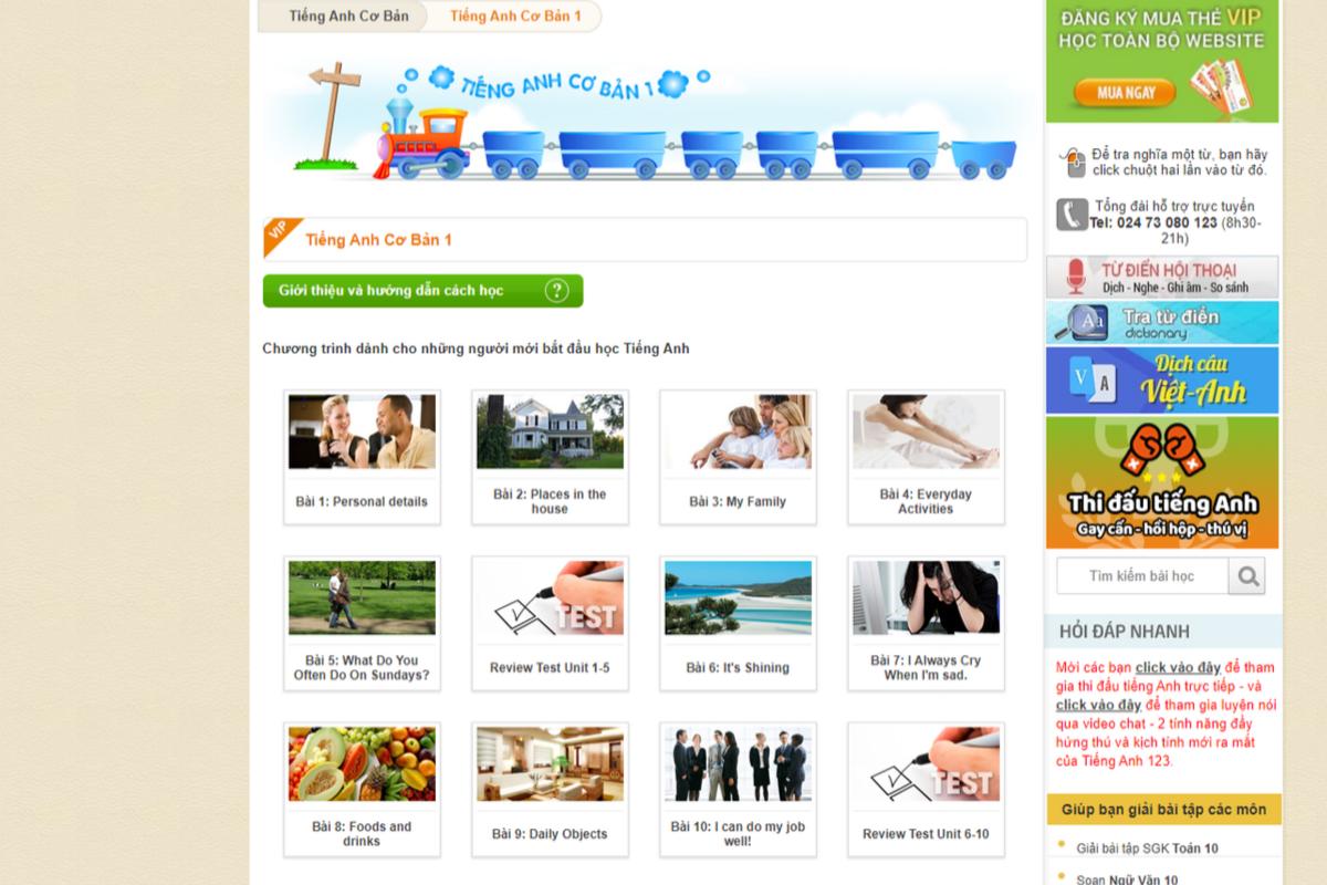 Khóa học tiếng Anh online cho người mới bắt đầu tại Tienganh123.com chỉ với 200k