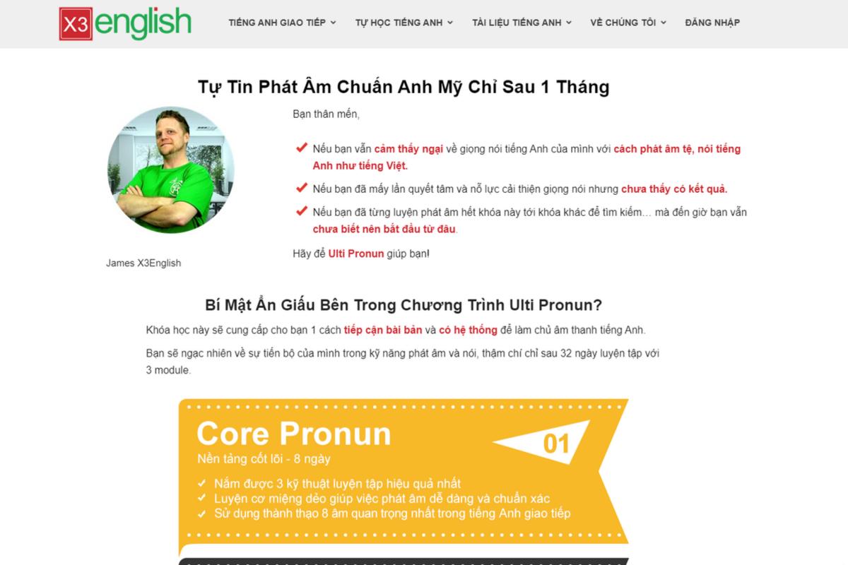 Học phát âm chuẩn và tự nhiên chỉ sau 1 tháng tại X3 english
