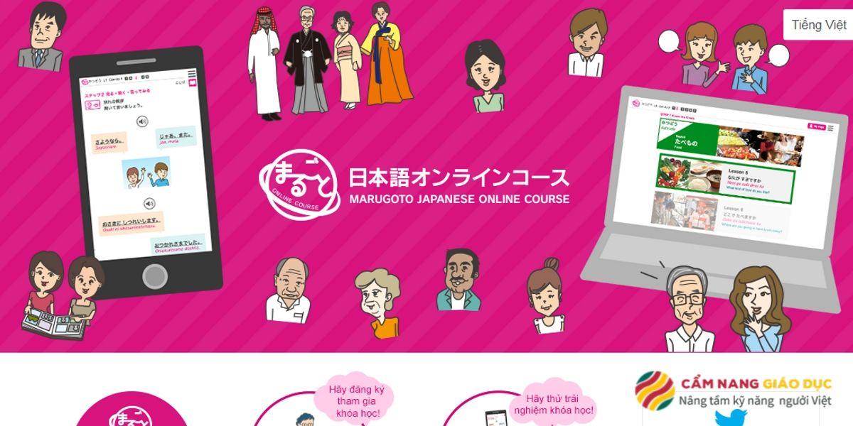 Khóa học tiếng Nhật trực tuyến Marugoto - Dựa trên tiêu chuẩn giáo dục tiếng Nhật JF