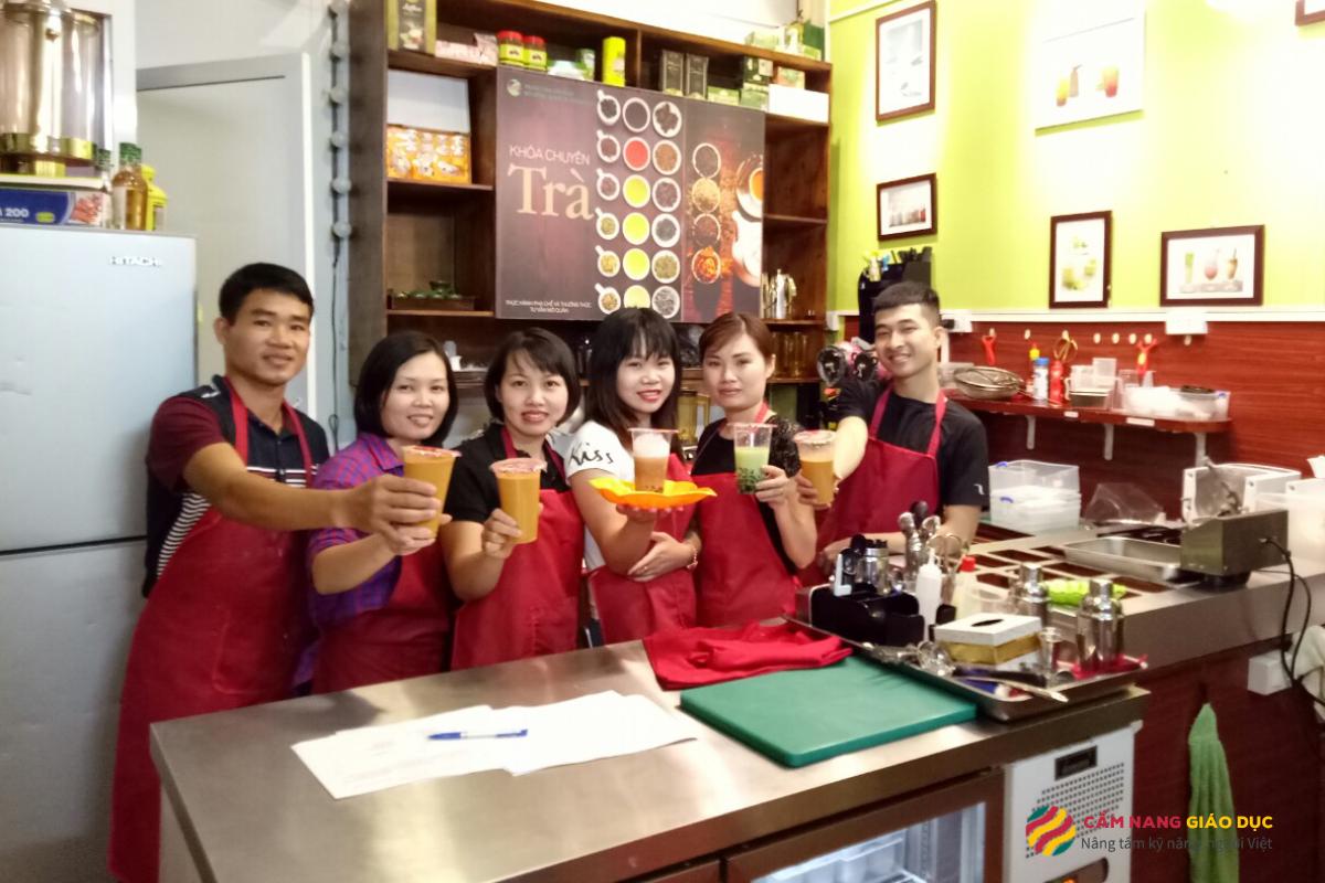 Khóa học barista pha chế đồ uống mùa đông tại Interbeso Hà Nội