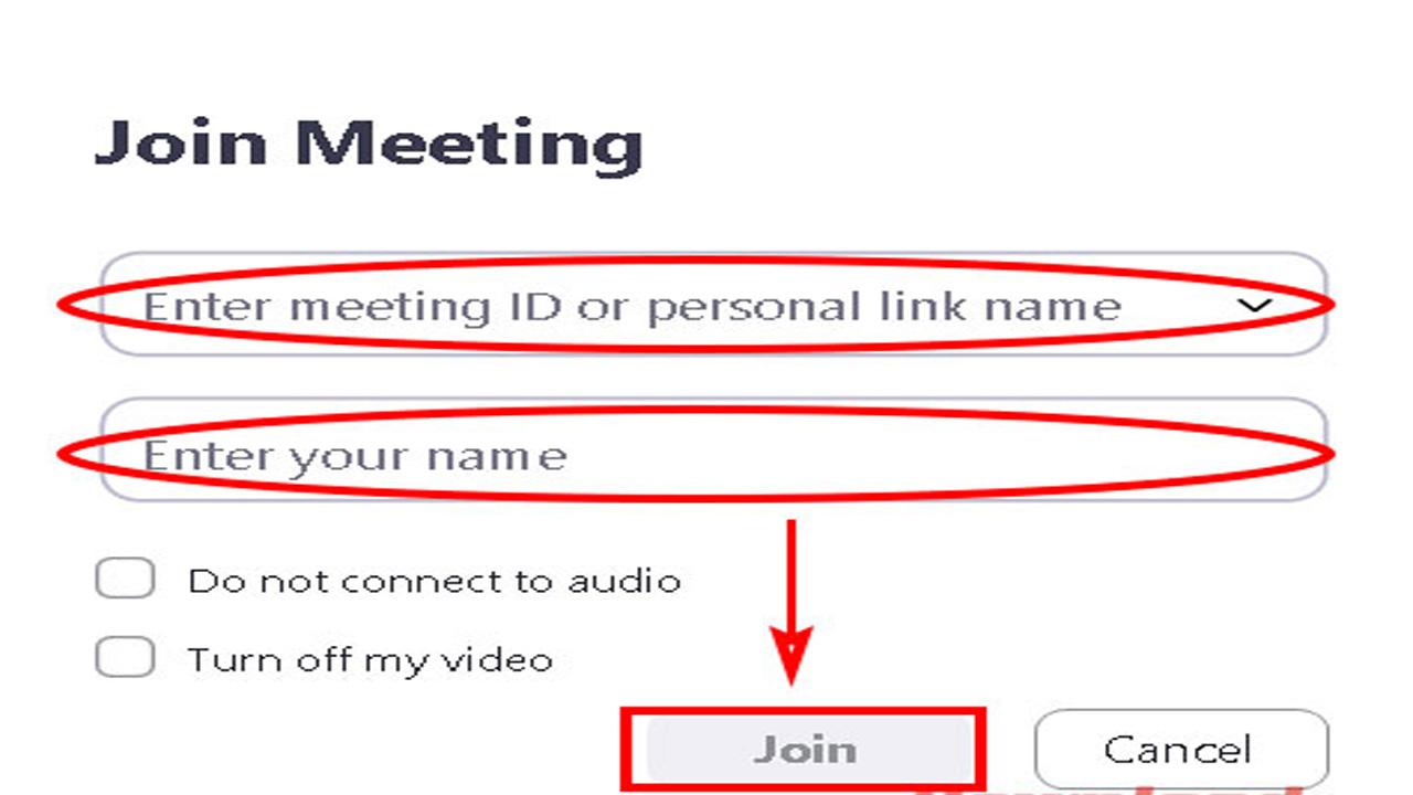 Điền ID lớp học và tên của bạn