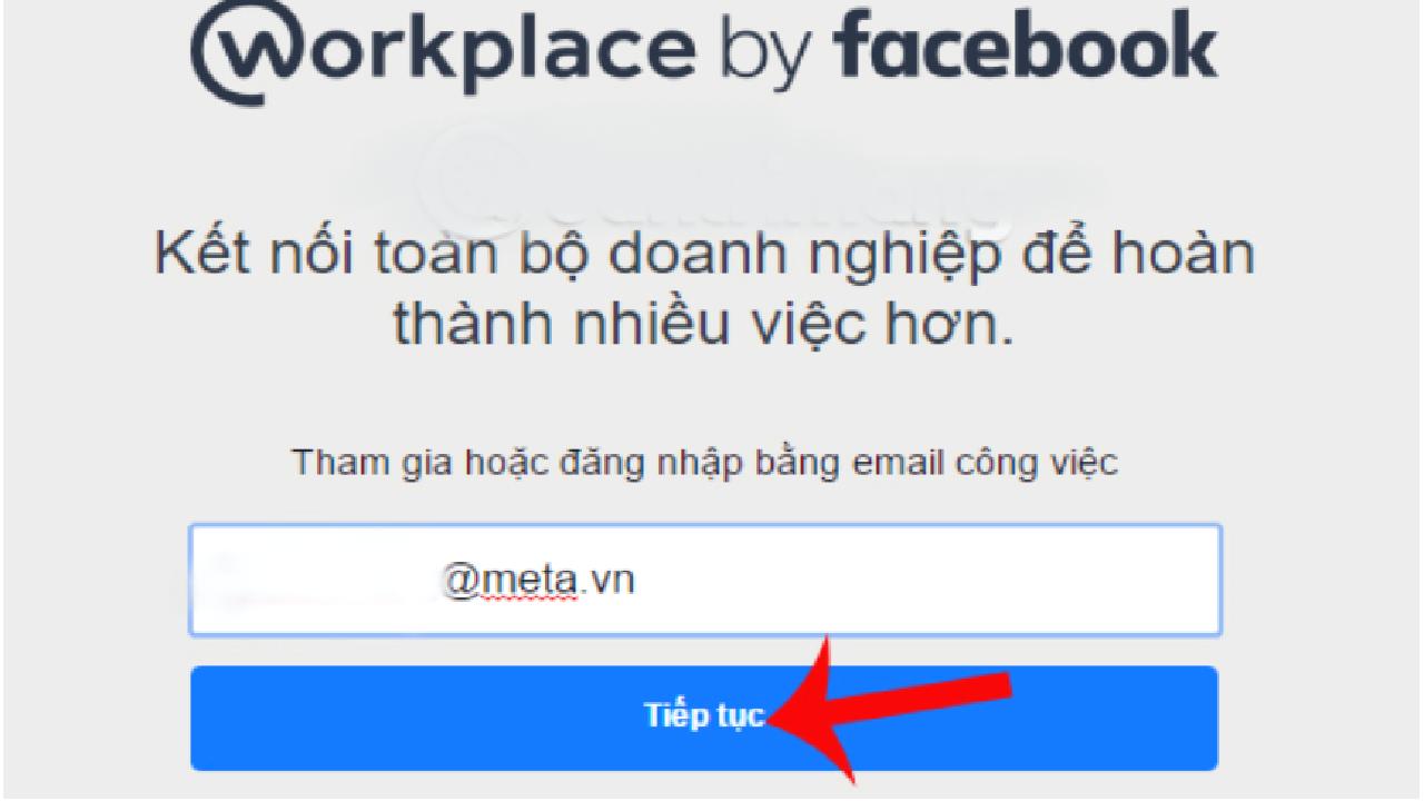 Giao diện nhập địa chỉ email