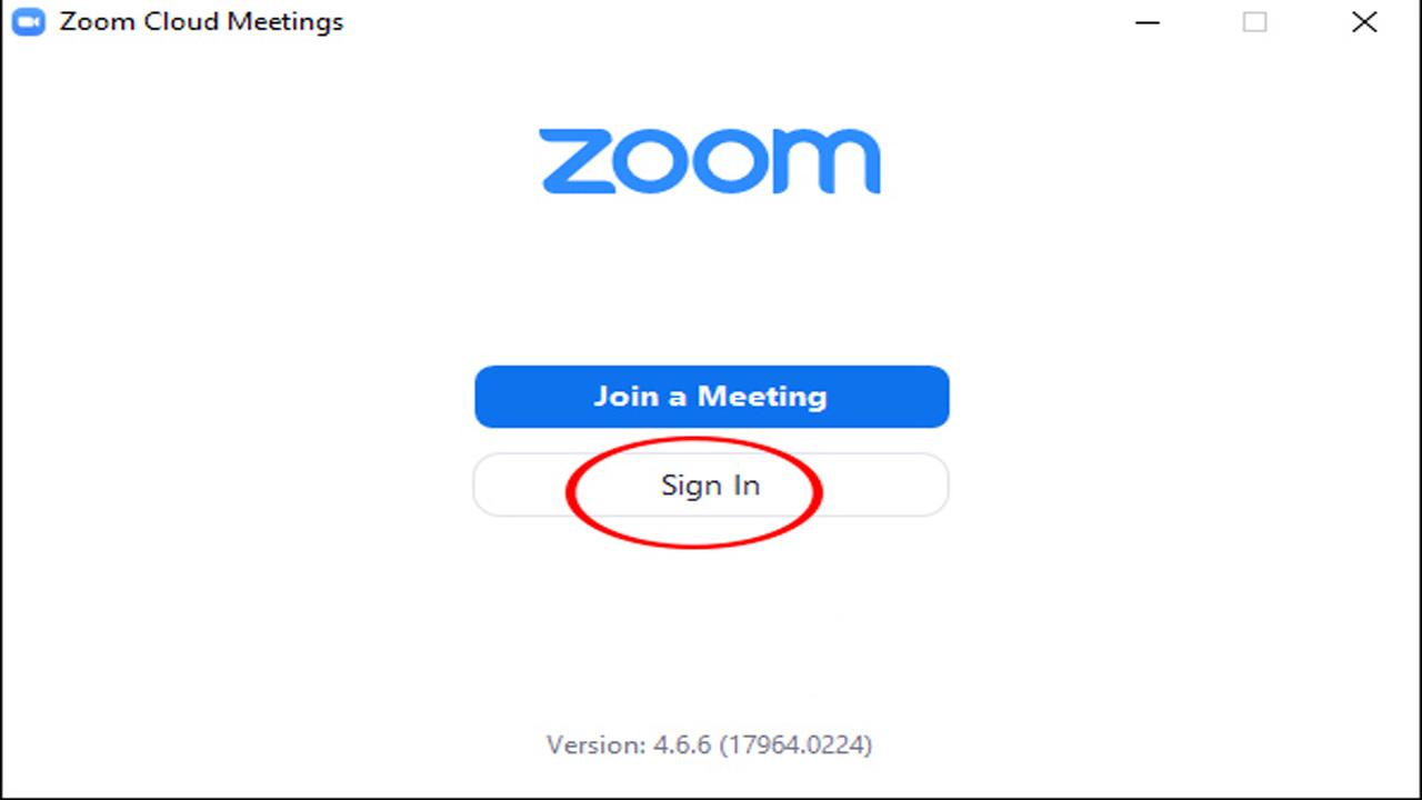 Nhấn vào sign in trên giao diện hiển thị