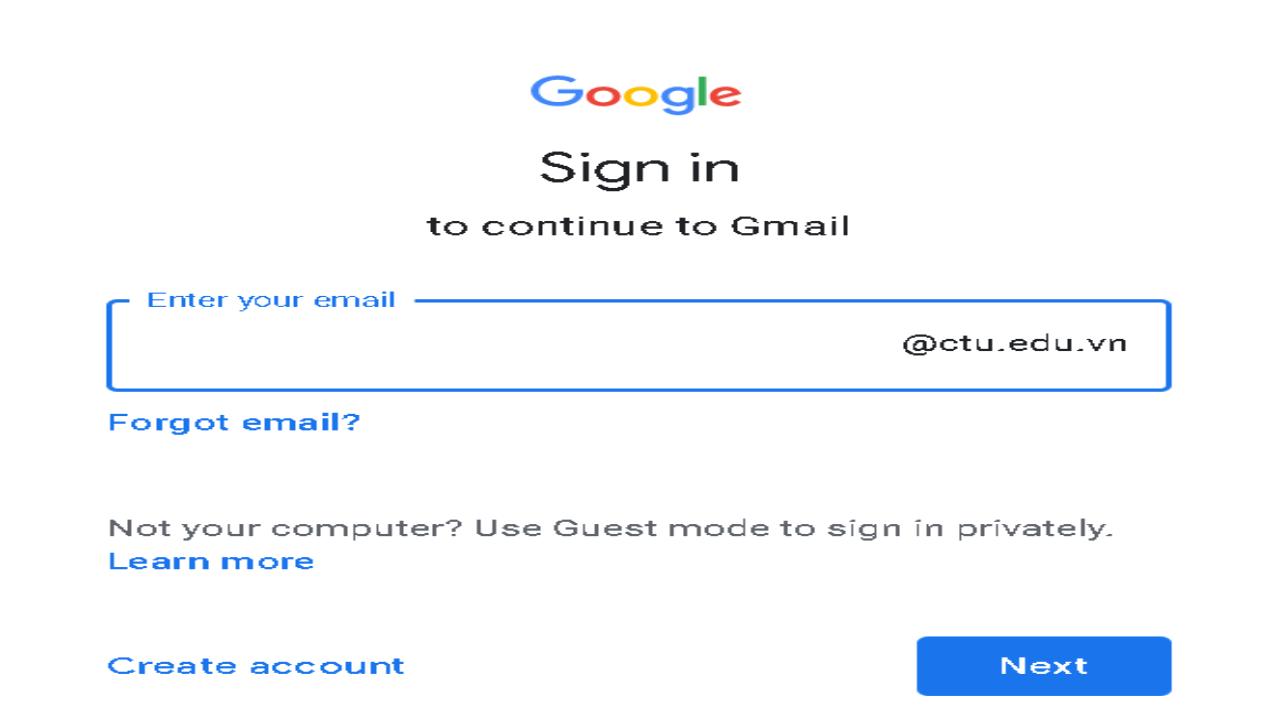 بخش ورود به سیستم ایمیل
