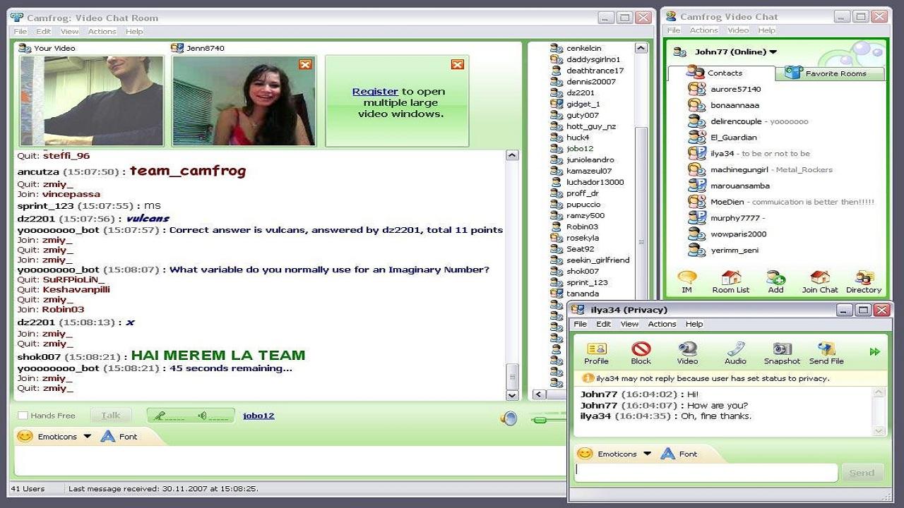 Phần mềm dạy học miễn phí hỗ trợ chat video trực tuyến lên đến 1000 người: Camfrog