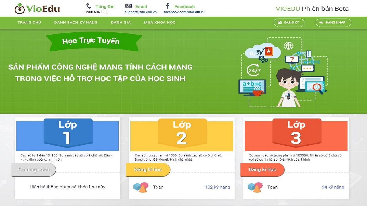 VioEdu là phần mềm hỗ trợ học trực tuyến dành cho học sinh tiểu học và trung học