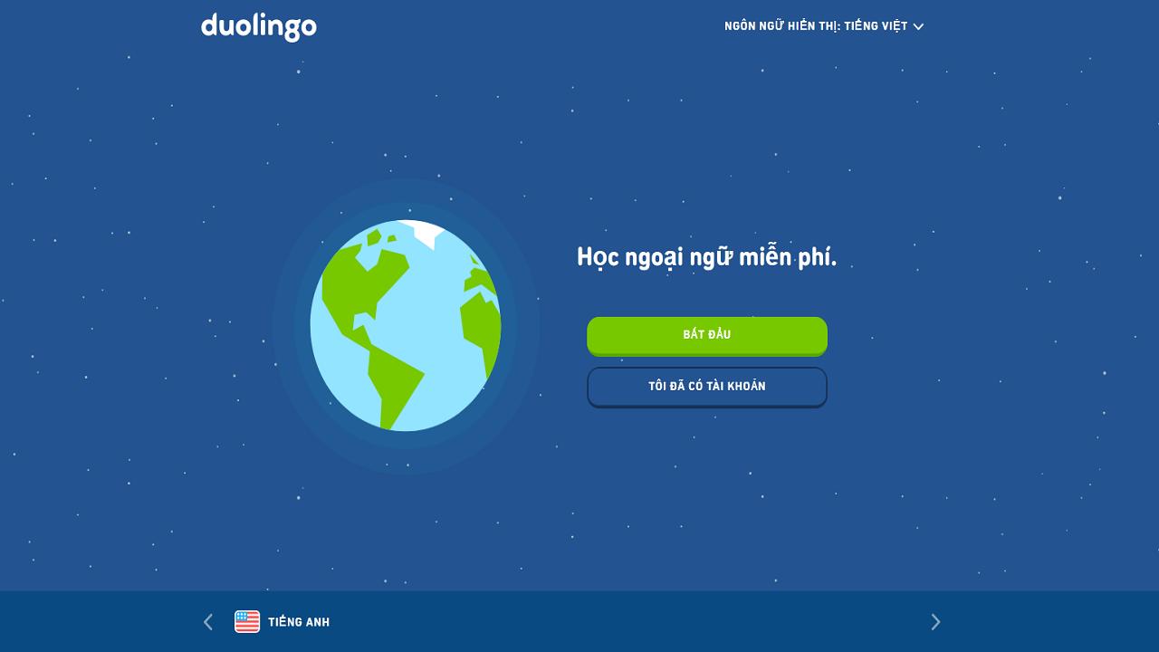 Duolingo là website học trực tuyến miễn phí hỗ trợ người học cải thiện trình độ tiếng Anh
