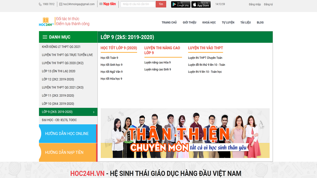 Hoc24h.vn là website học trực tuyến miễn phí chất lượng