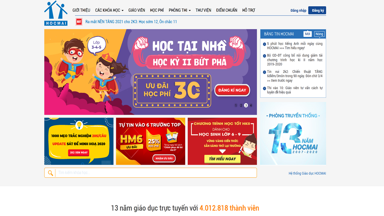 Hocmai.vn là website học trực tuyến miễn phí tốt nhất hiện nay