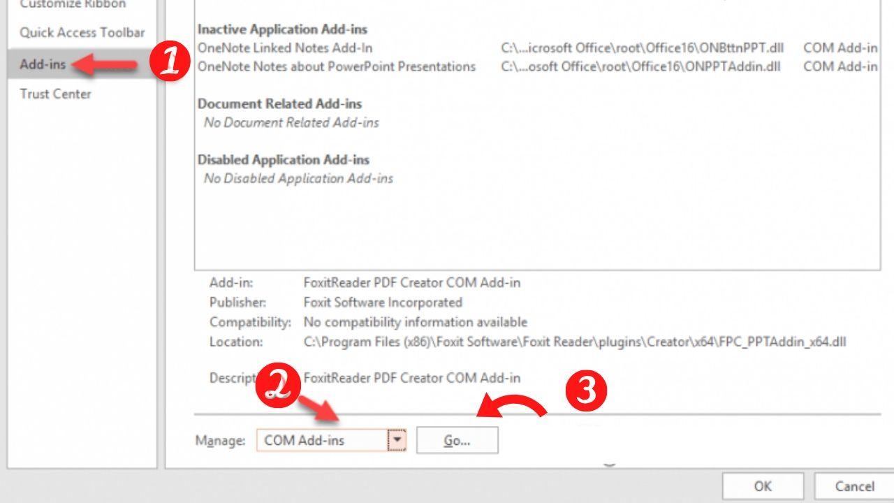 Các bước khắc phục lỗi ẩn công cụ iSpring Suite trong PowerPoint
