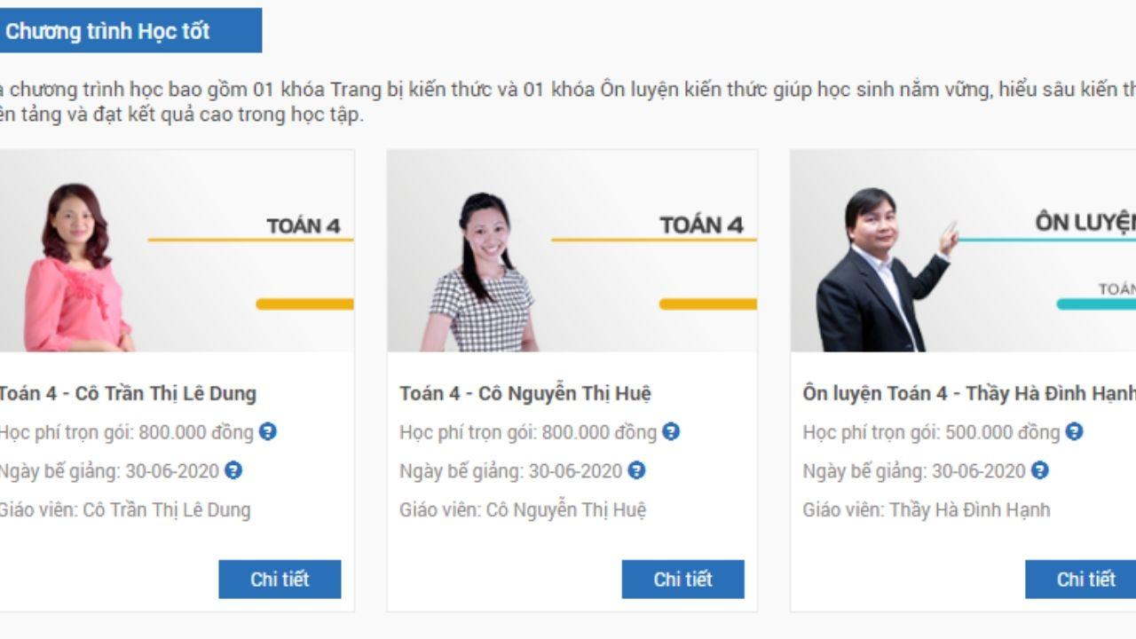 Gợi ý các khóa học tốt trên website hocmai dành cho học sinh lớp 4