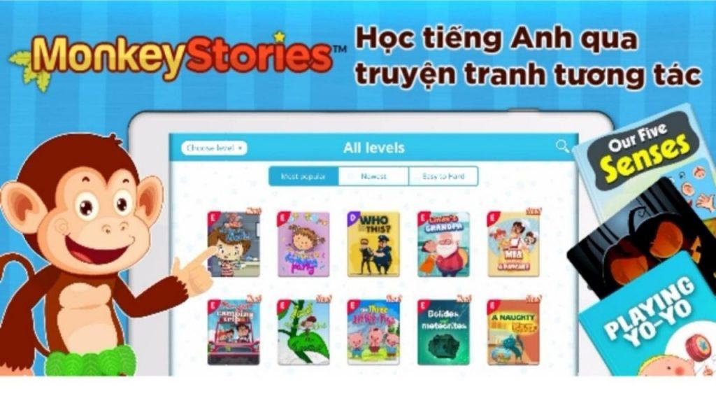 Học tiếng Anh qua truyện tương tác trên Monkey Stories