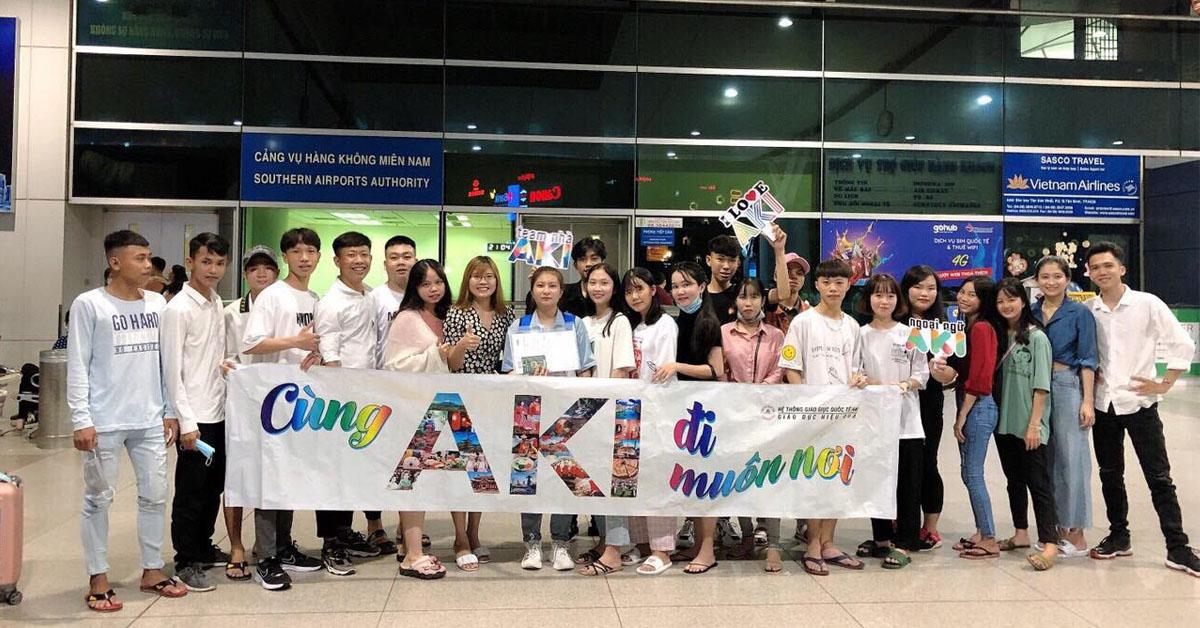 """""""Aki đi muôn nơi"""" là khẩu hiệu thể hiện thế mạnh của trung tâm du học Hàn uy tín này"""