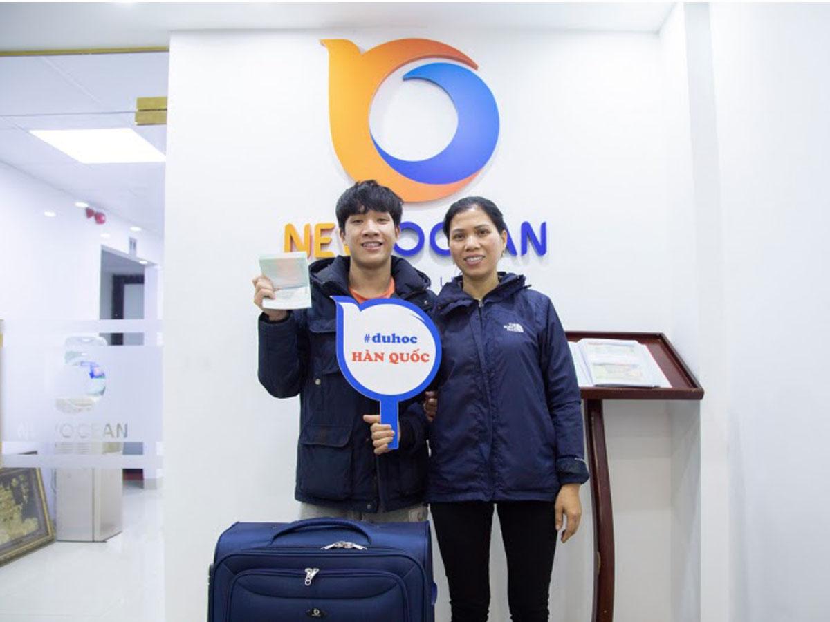 Ở trung tâm du học Hàn Quốc tại Hà Nội New Ocean không thiếu những gương mặt tiêu biểu nhận được visa Hàn Quốc để thực hiện ước mơ du học