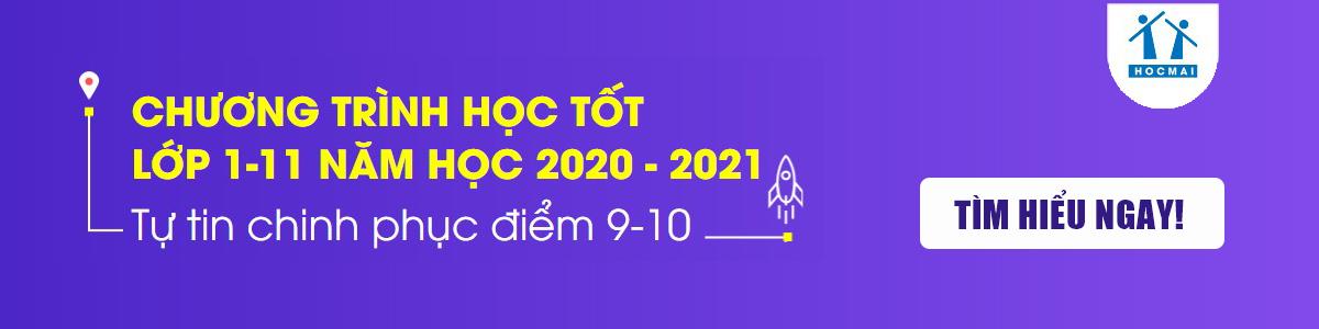 Banner quảng cáo HOCMAI Chương trình học lớp 1 - 11