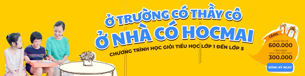 Banner quảng cáo HOCMAI Chương trình tiểu học